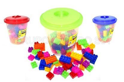 Foto de Super cubeta 96pzs jumbo block legos plástico