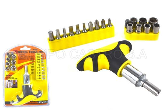 Foto de Set ratchet 19 pcs B-8394 diesel tools  5/6/7/8/9/10/11mm plano/phillis/allen