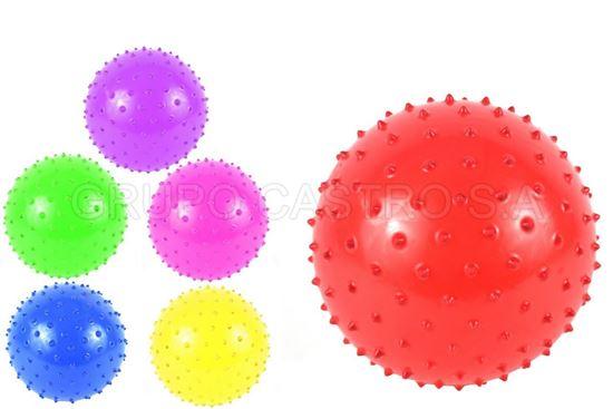 Foto de Bola hule masajeadora 20cms colores MU1009