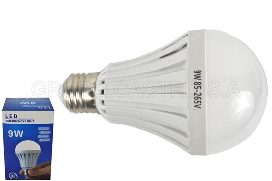 Foto de Bombillo LED 9W 85-265V RECARGABLE