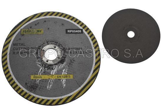 "Foto de Disco metal corte grueso7"" raptor 180x3x22.2mm"