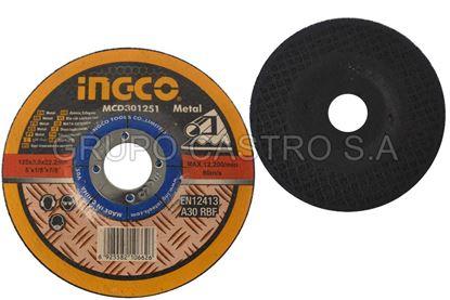 Foto de Disco metal corte grueso 4-1/2X1/8X7/8' INGCO