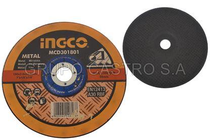 Foto de Disco metal corte grueso 7X1/8X7/8'  INGCO