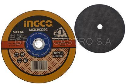 "Foto de Disco metal corte fino 9""x1/816""x7/8"" ingco 6650xmin"