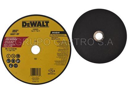 "Foto de Disco metal corte fino 7x055x7.8""  Dewalt"