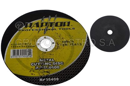 "Foto de Disco metal corte fino7"" raptor 180x1.6x22.mm"
