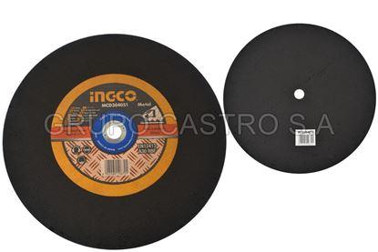 """Foto de Disco metal corte fino 16""""x1/8""""x1"""" ingco (405x3.0x25.4mm) 3800xmin"""