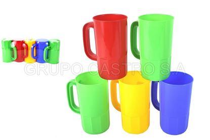 Foto de Set 5 vasos 16 onz cervecero plástico