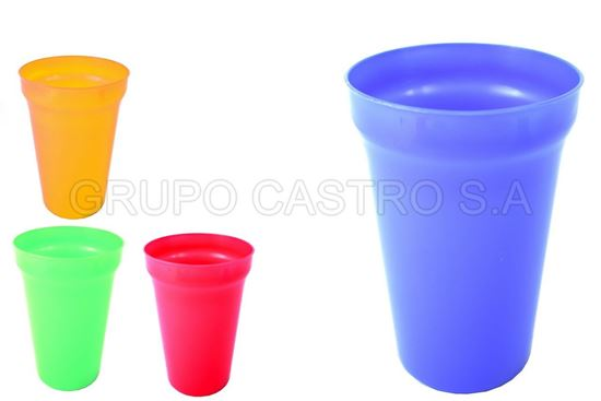 Foto de Vaso 14 onz plastico colores tacoplast