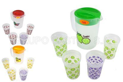 Foto de Pichel 2.5lrs 4 vasos frutas tacoplast