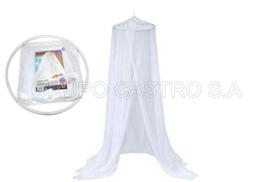 Foto de Toldo mosquitero individual blanco rueda twin size