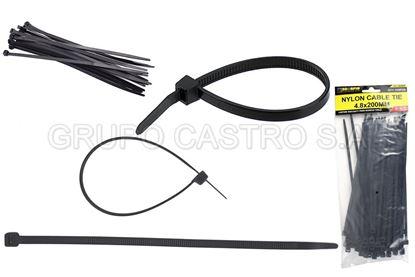 "Foto de Set 100  Zuncho Negro Plast. 8"" (4.8x200mm) SCORPIO"