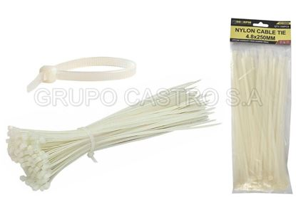 "Foto de Set 100  zuncho blanco plast. 10"" (4.8x250mm) scorpio vc150066"