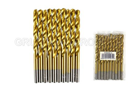 "Foto de Broca metal 10 pcs 1/4"" DT050065-14 diesel tools 10CM"