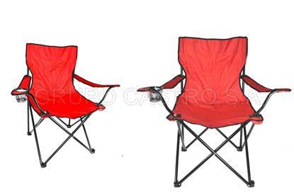 Foto de Silla tela desarmable playera camping  rojo