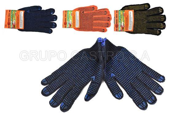 "Foto de Guante tela bolitas colores 10.5""  diesel tools"