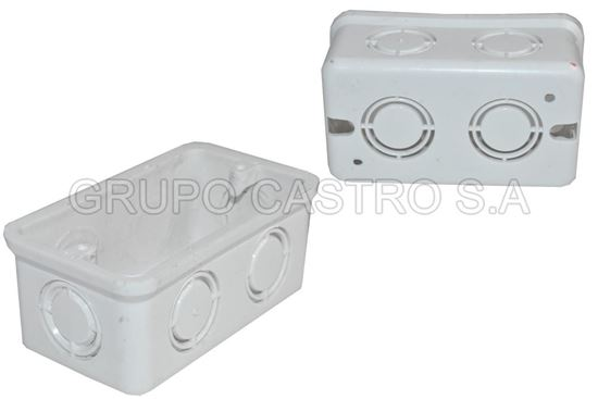 "Foto de Caja electrica rectangular pvc 2x4"" UL 45 gms"