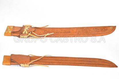 Foto de Cubierta cuero para machete -26cm
