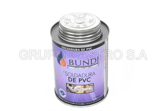 Foto de Pegamento Bundi PVC 1/16 azul spv1/16 236ml
