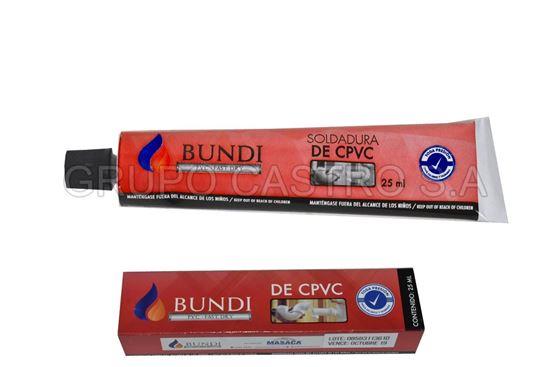 Foto de Pegamento Bundi PVC 25ml azul spvc58ml