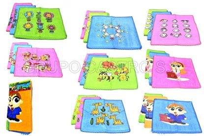 Foto de SET 3 TOALLA INFANTIL FLAMING. 12X12""
