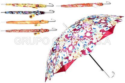 Foto de Sombrilla parasol jumbo larga 96cm estampada doble forro Alentino