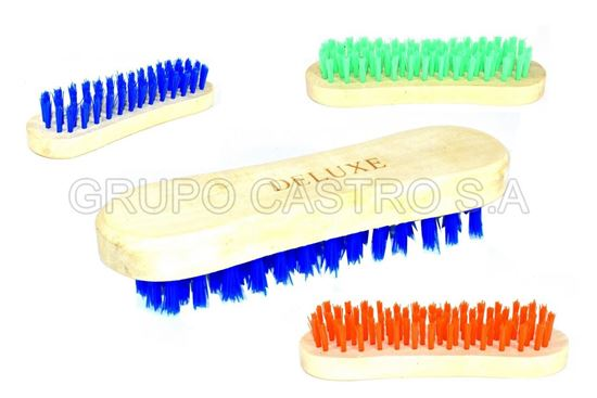 Foto de Cepillo Ovalado plasticas duras deluxe 16 cms