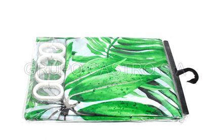 Foto de Cortina Baño Fina Tela Impermeable  180X180cm deluxe house+home decorada polyester