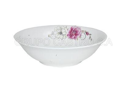 "Foto de Dulcera porcelana grande decorada 9"""