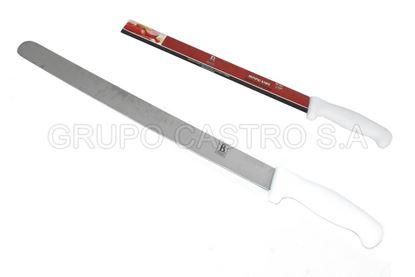 """Foto de Cuchillo cacha blanca 12""""  boning knife BR-1061 punta redonda"""