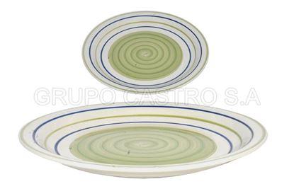 """Foto de Plato porcelana plano 10.5"""" decorado"""