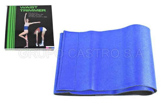 Foto de Faja azul aerobicos recortadora cintura