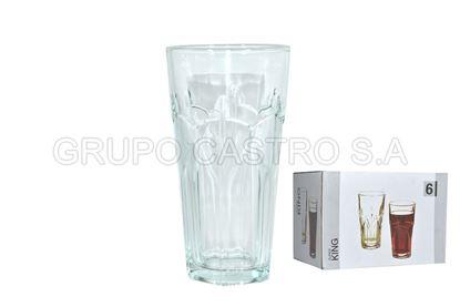 Foto de Vaso vidrio labrado king 12 onz