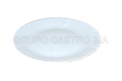Foto de Plato vidrio semihindo blanco temperado 270mm  diva