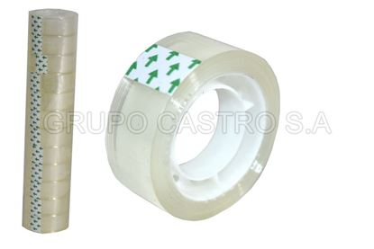 Foto de Set 12 tape Transparente 1.8cm 18m