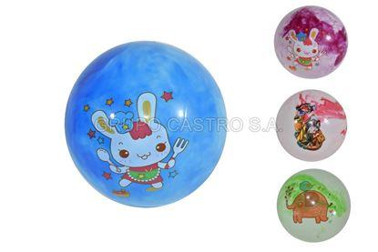 Foto de Bola hule 18cms decorada diseños infantiles
