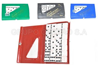 Foto de Domino 28pcs 10mm  50mmX24mm blister