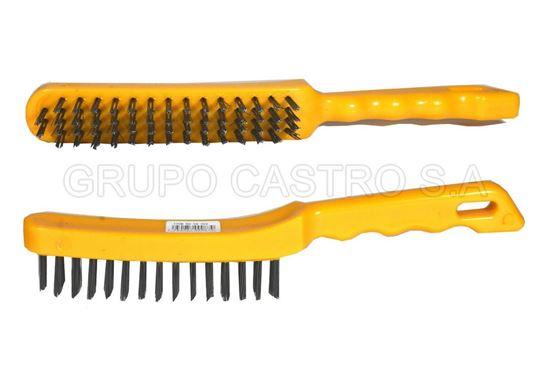 Foto de Cepillo acero  puño plastico amarillo brickell