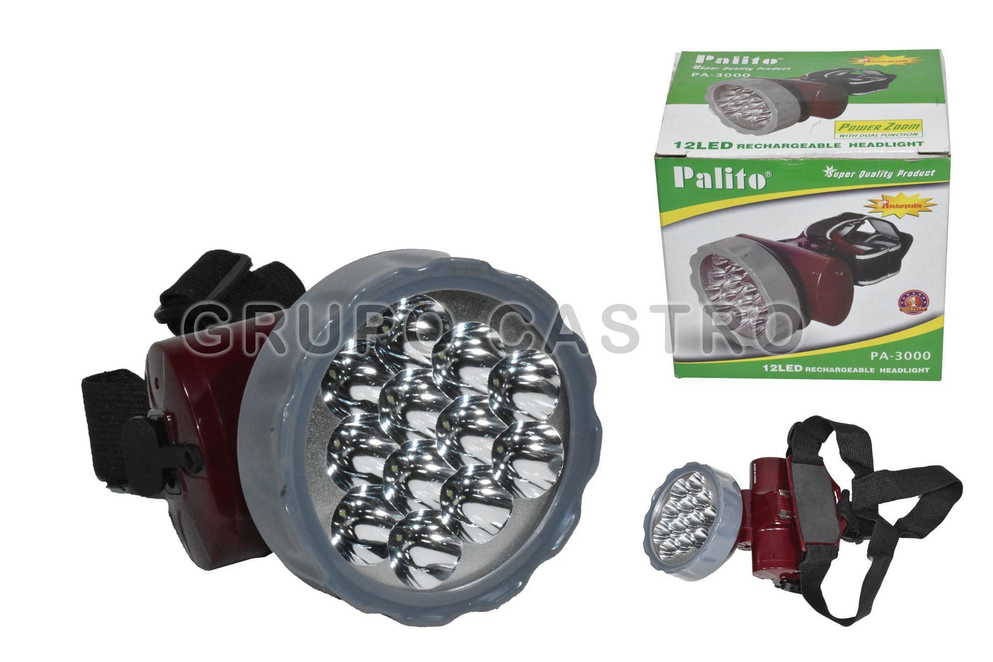 Foto de FOCO LINTERNA PALITO PA-3000 CABEZA MINERA 13 LED RECARGABLE AC90-240V 50-60HZ