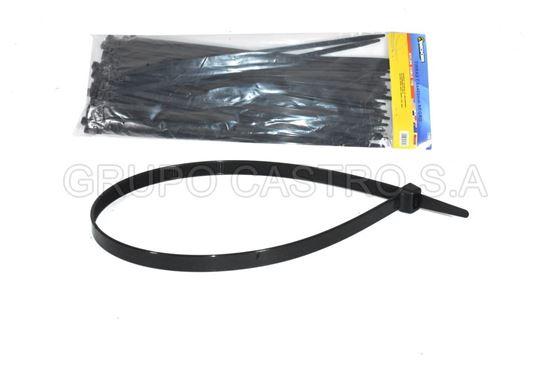 """Foto de Set 100  Zuncho negro Plast. 16""""x7.6mm (PBCT7.6X400mm) BECKER"""