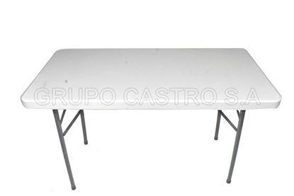 Foto de Mesa resina rectangular  p/metalicas