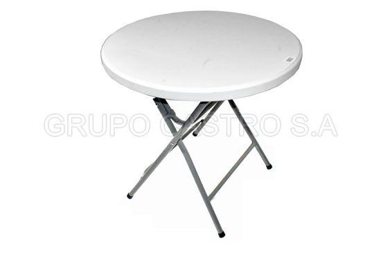 Foto de Mesa Resina redonda table 80cms  pequeña