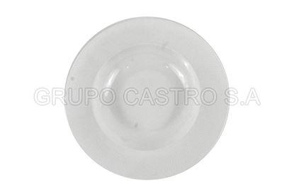 "Foto de Plato porcelana hondo 9"" Blanco"