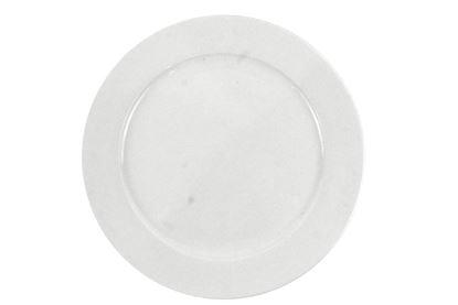 "Foto de Plato porcelana plano grande 12"" blanco"
