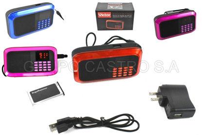 Foto de Bocina c/teclado de dial con Reproductor USB y Radio VTA622