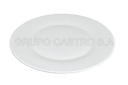 Foto de Plato porcelana plano 10.5 blanco
