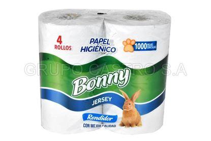Foto de Papel Higienico paquete de 4 de 1000 hojas Bonny