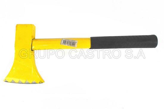 Foto de HACHA 1000gms PH-189310-HC 33cms MANGO METAL AMARILLA