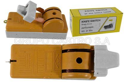 Foto de Cuchilla electrica 2p 60A KS PH-TG60A sin fusible