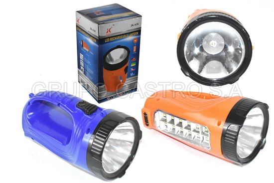Foto de FOCO JIAKE RECARGABLE 1 LED LAMPARA LATERAL 12 LED